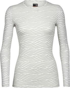 Icebreaker 200 Oasis chemise fonctionnelle à manches longues Napasoq Lines Femmes Blanc