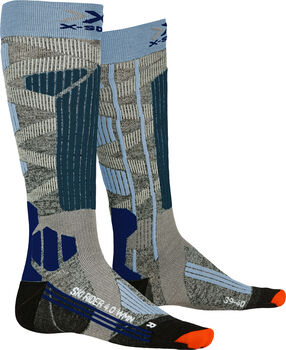 X-Socks SKI RIDER 4.0 Chausettes de ski Femmes Gris