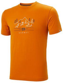 Helly Hansen Skog Graphic T-Shirt Herren Orange