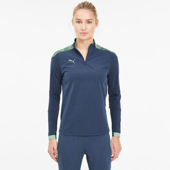 Puma ftblNXT 1/4 Zip Top Fussballshirt langarm Damen Blau
