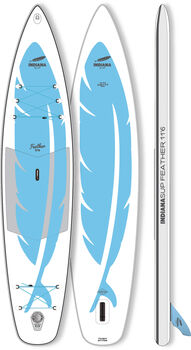 Indiana 11'6 Feather Inflatable Stand Up Paddle Weiss