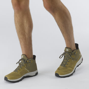 Salomon OUTline PRISM MID GORE-TEX chaussure de randonnée Hommes Vert