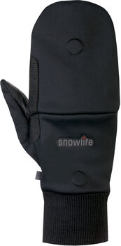 Snowlife WS Soft Shell Mitten Cap gant à usage multiple Noir