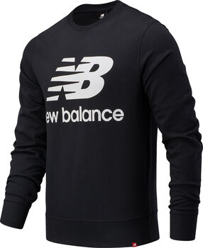 New Balance Essentials Stacked Logo Crew Pullover Herren Schwarz