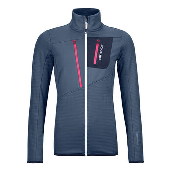 ORTOVOX FLEECE GRID Fleecejacke Damen Blau