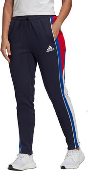 adidas Colorblock Fitnesshose Damen Schwarz