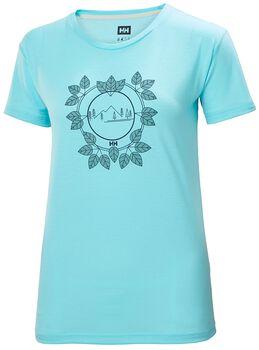 Helly Hansen Skog Graphic T-Shirt Femmes Turquoise