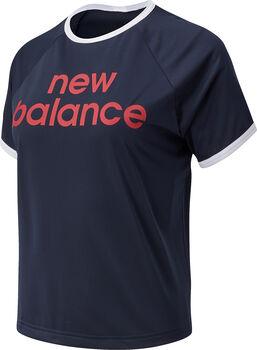 New Balance Achiever Graphic T-Shirt Damen Blau