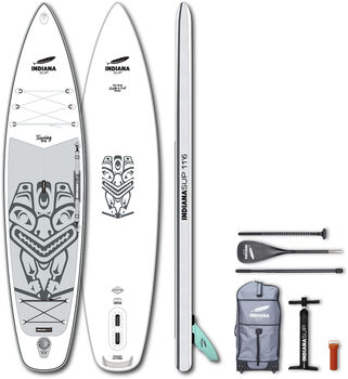 Indiana 11'6 Touring Pack Premium Stand Up Paddle Weiss