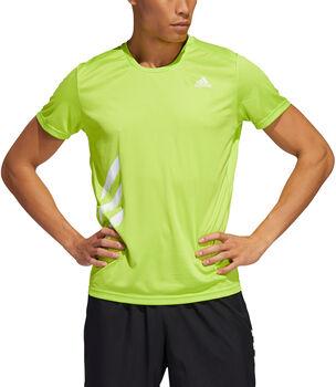 adidas Run It 3-Streifen T-Shirt Herren Grün