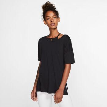 Nike Yoga T-Shirt Damen Schwarz