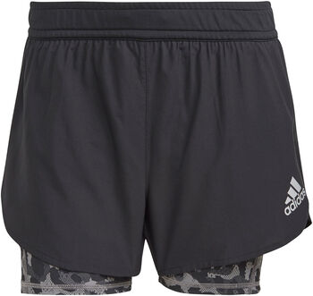 adidas Fast 2 in 1 Primeblue Graphic short de running Femmes Noir