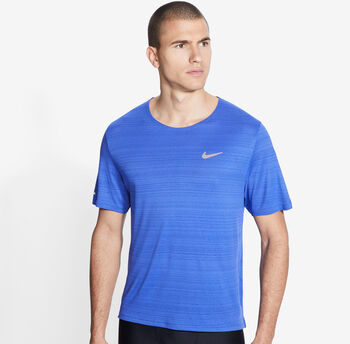 Nike Miler Runningshirt Herren Blau