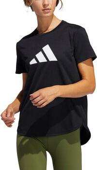 adidas 3 Streifen Trainingsshirt Damen Schwarz