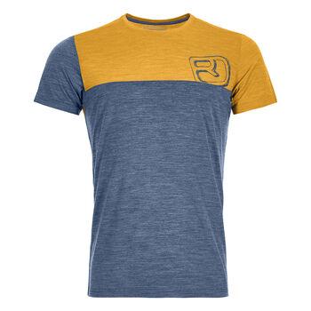 ORTOVOX 150 Cool Logo T-Shirt Herren Blau