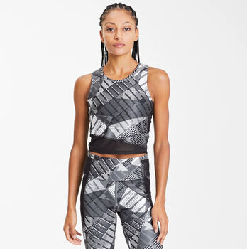 Puma Be Bold AOP Crop Tank Top Damen Schwarz
