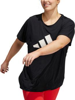 adidas 3-Stripes Plus Size Trainingsshirt Damen Schwarz