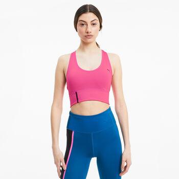 Puma Long Line Sport BH Damen Pink