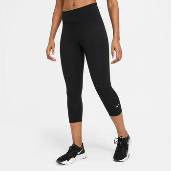 Nike One Capri Tights Damen Schwarz