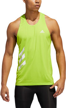 adidas Own the Run 3 Stripes Tank Top Herren Grün