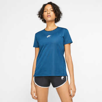 Nike AIR Laufshirt kurzarm Damen Blau