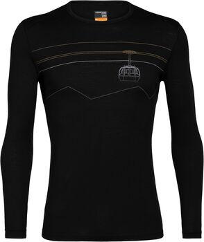 Icebreaker 200 Oasis chemise fonctionnelle à manches longues Peak to Peak Lift Hommes Noir