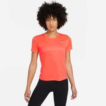 Nike Miler Top Laufshirt kurzarm Damen Orange