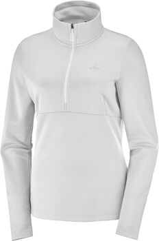 Salomon Transition Half Zip Damen Weiss