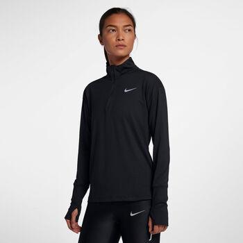 Nike Element 1/2 Zip Laufshirt langarm  Damen Schwarz