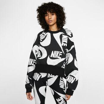 Nike Sportswear Fleece Crew Sweatshirt Damen Schwarz