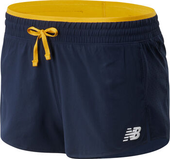 New Balance Fast Flight Split Shorts Damen Gold