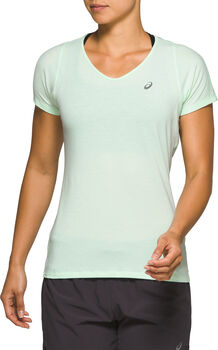 Asics V-NECK Laufshirt kurzarm Damen Grün