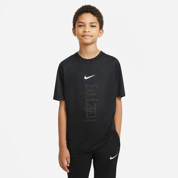 Nike Dri-Fit Kylian Mbappe Fussballshirt Schwarz