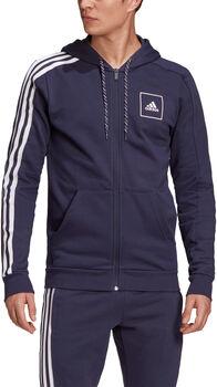 adidas 3-Streifen Tape Kapuzenjacke Herren Blau