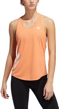 adidas Performance RUN IT 3 Stripes Tank Top Damen Orange