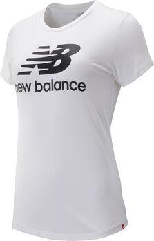 New Balance Essentials Stacked Logo T-Shirt Damen Weiss