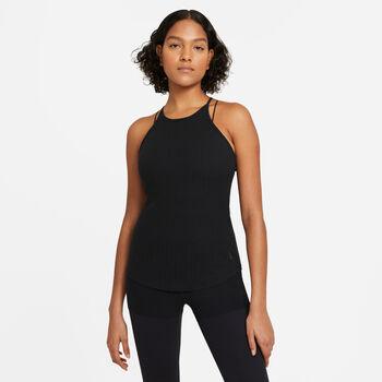 Nike Yoga Pointelle tanktop Femmes Noir