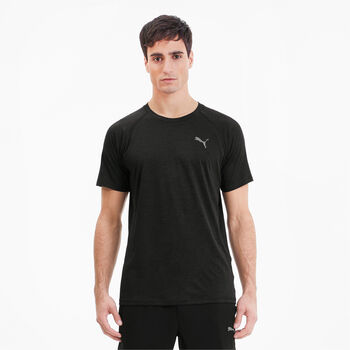 Puma Heather SS Trainingsshirt Herren Schwarz
