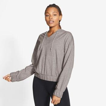 Nike Yoga Pullover Hoody Damen Grau
