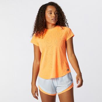 New Balance Q Speed T-Shirt Damen Orange
