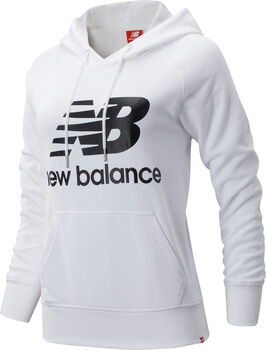 New Balance Essentials Pullover Hoody Damen Weiss