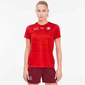 Puma SFV Schweiz Nati Home Replica Fussballtrikot Damen Rot