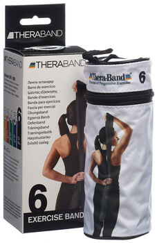 TheraBand 2.5m bande fitness  Noir