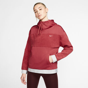 Nike Fleece Hoody  Damen Rot