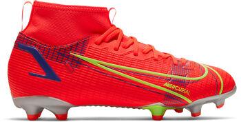 Nike JR Mercurial SUPERFLY 8 ACADEMY FG/MG chaussure de football Rouge