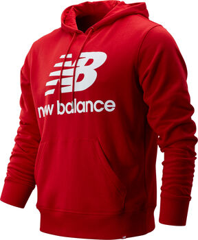 New Balance Essentials Stacked Logo Hoody Herren Rot