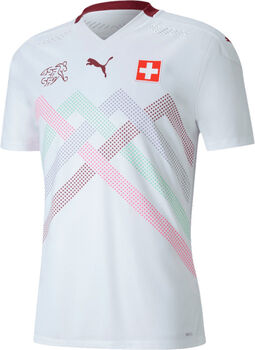 Puma SFV Schweiz Nati Away Authentic Fussballtrikot Herren Weiss