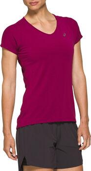 Asics V-NECK Laufshirt kurzarm Damen Rot