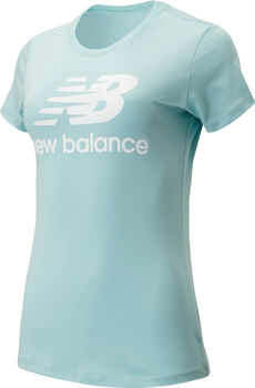 New Balance Essentials Stacked Logo T-Shirt Damen Blau