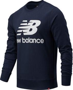 New Balance Essentials Stacked Logo Crew Pullover Hommes Bleu